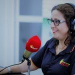 """María Barco grabando nuestro podcast """"autonomía de las personas mayores"""""""